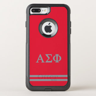 Alpha Sigma Phi | Sport Stripe OtterBox Commuter iPhone 8 Plus/7 Plus Case