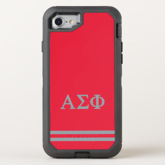 Alpha Sigma Phi | Sport Stripe OtterBox Defender iPhone 8/7 Case