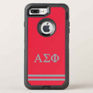 Alpha Sigma Phi | Sport Stripe OtterBox Defender iPhone 8 Plus/7 Plus Case