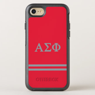 Alpha Sigma Phi | Sport Stripe OtterBox Symmetry iPhone 8/7 Case