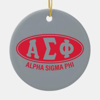 Alpha Sigma Phi | Vintage Ceramic Ornament