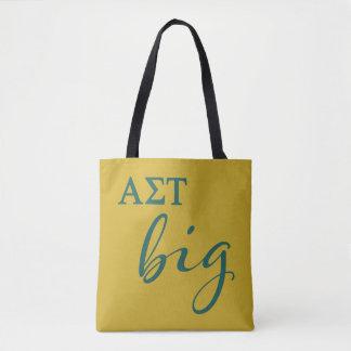 Alpha Sigma Tau Big Script Tote Bag