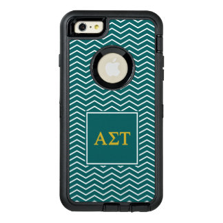 Alpha Sigma Tau | Chevron Pattern OtterBox Defender iPhone Case