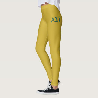 Alpha Sigma Tau Lil Big Logo Leggings
