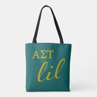 Alpha Sigma Tau Lil Script Tote Bag