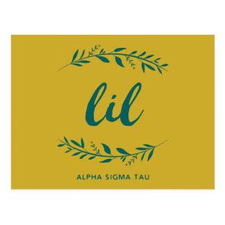 Alpha Sigma Tau Lil Wreath Postcard