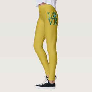 Alpha Sigma Tau Love Leggings
