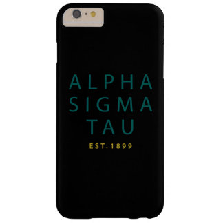 Alpha Sigma Tau Modern Type Barely There iPhone 6 Plus Case
