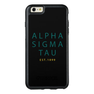 Alpha Sigma Tau Modern Type OtterBox iPhone 6/6s Plus Case