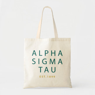 Alpha Sigma Tau Modern Type Tote Bag
