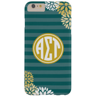 Alpha Sigma Tau | Monogram Stripe Pattern Barely There iPhone 6 Plus Case