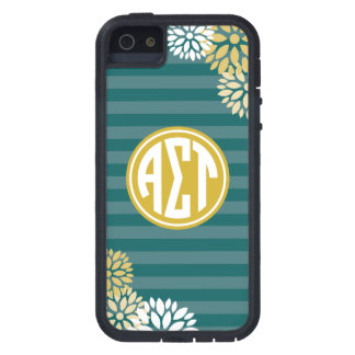 Alpha Sigma Tau | Monogram Stripe Pattern iPhone 5 Case
