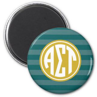Alpha Sigma Tau | Monogram Stripe Pattern Magnet