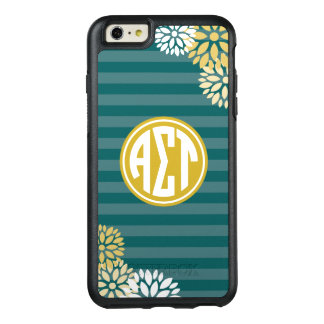Alpha Sigma Tau | Monogram Stripe Pattern OtterBox iPhone 6/6s Plus Case