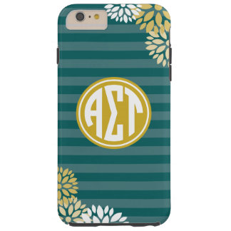 Alpha Sigma Tau | Monogram Stripe Pattern Tough iPhone 6 Plus Case