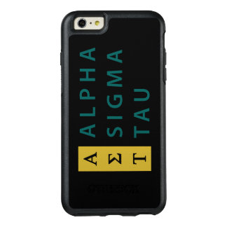 Alpha Sigma Tau Stacked OtterBox iPhone 6/6s Plus Case