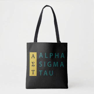 Alpha Sigma Tau Stacked Tote Bag