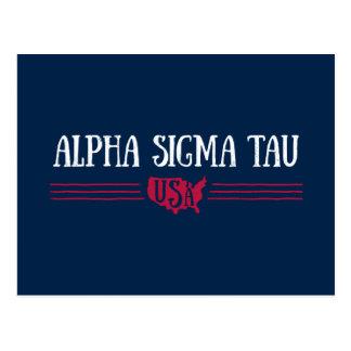 Alpha Sigma Tau USA Postcard