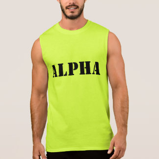 'Alpha' Sleeveless Fitness Training Muscle TeeAlph Sleeveless Shirt