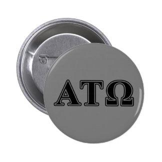 Alpha Tau Omega Black Letters 6 Cm Round Badge