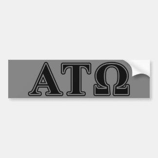 Alpha Tau Omega Black Letters Car Bumper Sticker