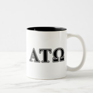 Alpha Tau Omega Black Letters Coffee Mug