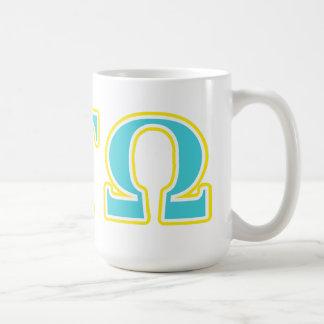 Alpha Tau Omega Blue and Yellow Letters Coffee Mugs