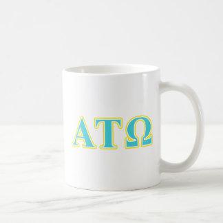 Alpha Tau Omega Blue and Yellow Letters Mug