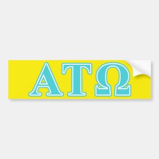 Alpha Tau Omega Blue Letters Car Bumper Sticker