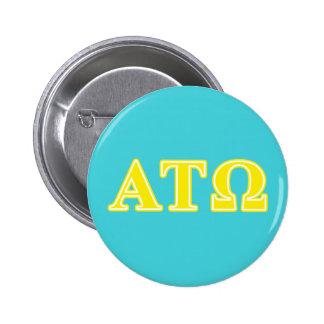 Alpha Tau Omega Yellow Letters 6 Cm Round Badge