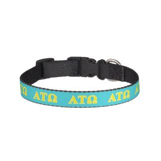 Alpha Tau Omega Yellow Letters Pet Collar