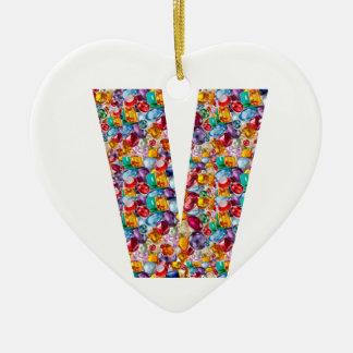 Alpha VVV PPP RRR QQQ Fashion GIFTS Jewel FUN ID Ceramic Heart Decoration