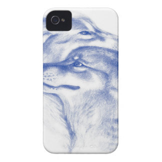 Alpha Wolves Love Art Case-Mate iPhone 4 Case