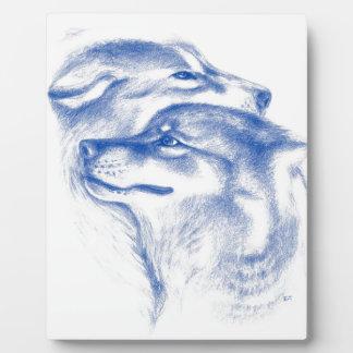 Alpha Wolves Love Art Plaque