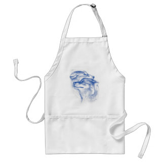 Alpha Wolves Love Art Standard Apron