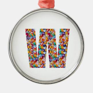 ALPHA www mmm nnn sss gifts Fashion Jewels FUN W M Ornament