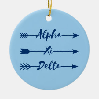 Alpha Xi Delta Arrow Ceramic Ornament