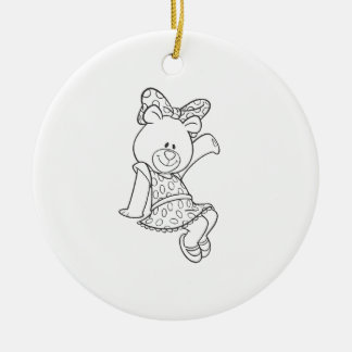 Alpha Xi Delta Bear Ceramic Ornament