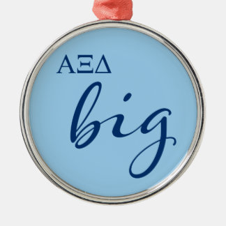 Alpha Xi Delta Big Script Metal Ornament