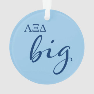 Alpha Xi Delta Big Script Ornament