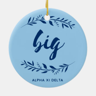Alpha Xi Delta Big Wreath Ceramic Ornament