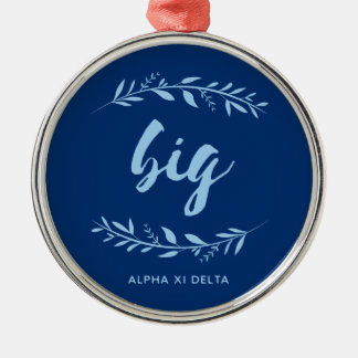 Alpha Xi Delta Big Wreath Metal Ornament