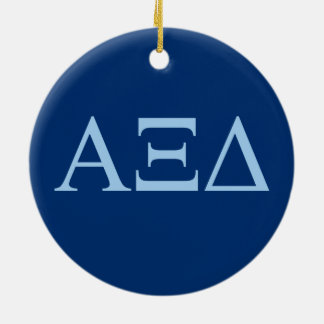 Alpha Xi Delta Lil Big Logo Ceramic Ornament