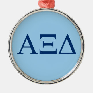 Alpha Xi Delta Lil Big Logo Metal Ornament