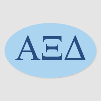 Alpha Xi Delta Lil Big Logo Oval Sticker