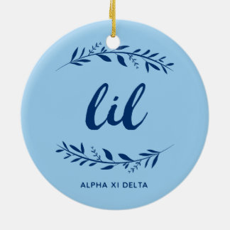 Alpha Xi Delta Lil Wreath Ceramic Ornament