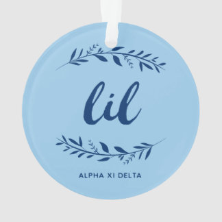 Alpha Xi Delta Lil Wreath Ornament