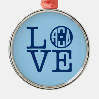Alpha Xi Delta Love Metal Ornament