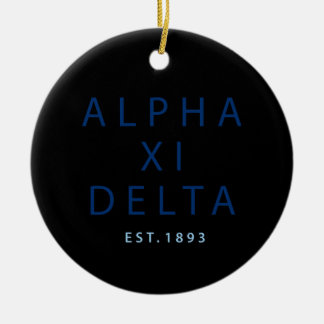 Alpha Xi Delta Modern Type Ceramic Ornament