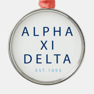 Alpha Xi Delta Modern Type Metal Ornament